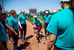 Kentucky vs. Texas A&M in a NCAA softball game April 14, 2018, in College Station, Texas.