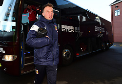 Cauley Woodrow of Bristol City arrives at Villa Park  - Mandatory by-line: Joe Meredith/JMP - 01/01/2018 - FOOTBALL - Villa Park - Birmingham, England - Aston Villa v Bristol City - Sky Bet Championship