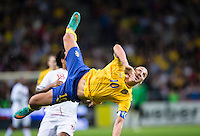 Solna 2012-11-14 Football Friendly Game Sweden-England :  .Sweden 10 Zlatan Ibrahimovic with the bicycle kick.that gave sweden the lead with 4-2.(Foto: Andreas Sandstr?m / Pic-Agency.com ), Nyckelord: Sverige   cykelspark konstspark.