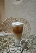 Glass of iced cappuccino
