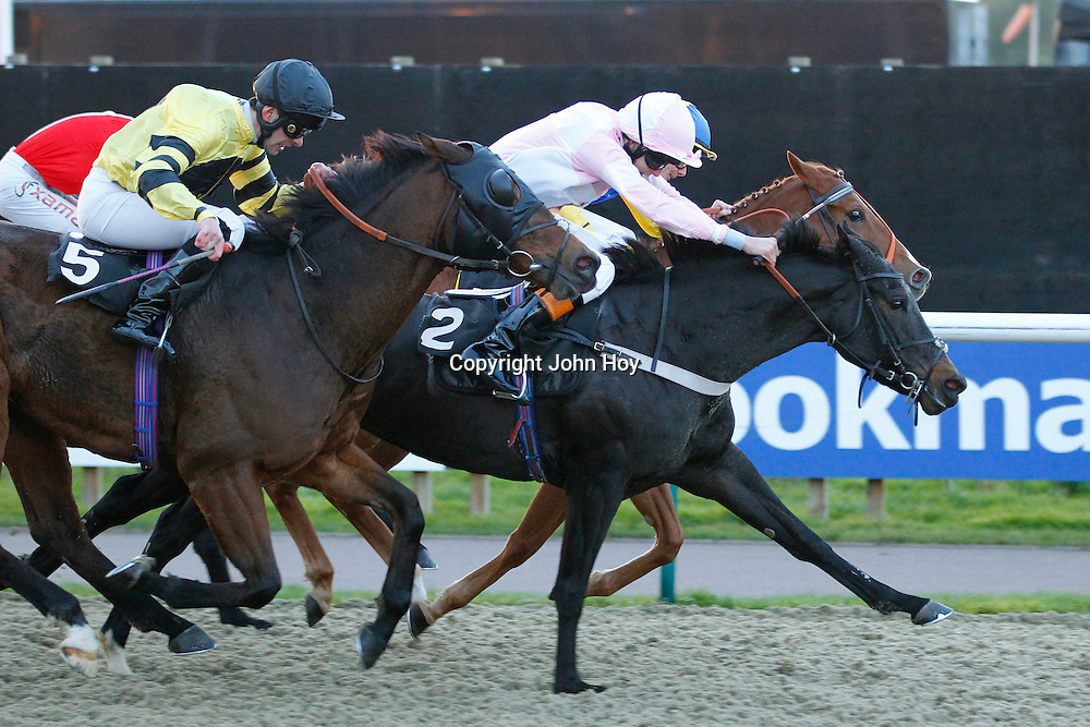 Clock Opera and Louis Stewart winning the 3.45 race