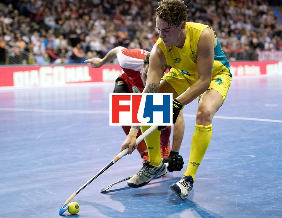 BERLIN - Indoor Hockey World Cup<br /> SF2 Australia - Austria<br /> foto: Jack Hayes   <br /> WORLDSPORTPICS COPYRIGHT FRANK UIJLENBROEK