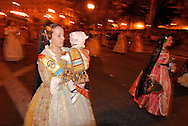 Las Fallas, March, 17. Valencia. Las Fallas Holidays and celebrations. , Winner `falla´of the special section. 1st price.