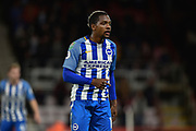 Brighton and Hove Albion midfielder Jose Izquierdo (19) during the EFL Cup match between Bournemouth and Brighton and Hove Albion at the Vitality Stadium, Bournemouth, England on 19 September 2017. Photo by Adam Rivers.