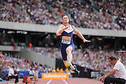 Greg Rutherford during the Sainsbury's Anniversary Games at the Queen Elizabeth II Olympic Park, London, United Kingdom on 25 July 2015. Photo by Phil Duncan.