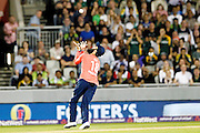 Moweem Ali catches during the International T20 match between England and Pakistan at the Emirates, Old Trafford, Manchester, United Kingdom on 7 September 2016. Photo by Craig Galloway.
