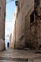 Vicoletto che conduce alla cinta muraria del borgo antico, dalla quale si ammira uno splendido panorama della vallata.