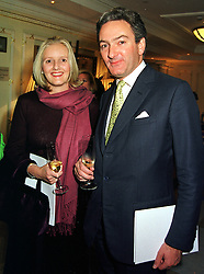 MR & MRS NICHOLAS WILLIAMS, she was Alexandra Heseltine, at a fashion show in London on 30th September 1999.MWZ 4