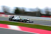 February 19, 2013 - Barcelona Spain. Nico Rosberg, Mercedes GP Petronas F1 Team  during pre-season testing from Circuit de Catalunya.