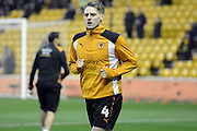 Wolves Dave Edwards warming up before the EFL Sky Bet Championship match between Wolverhampton Wanderers and Newcastle United at Molineux, Wolverhampton, England on 11 February 2017. Photo by Jacqueline Theodosi.