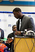 February 01, 2012: Dorial Green-Beckham announces that he is going to the University of Missouri to play college football on National Signing Day at Hillcrest High School in Springfield, Missouri. Photo by: David Welker/ Turfimages.com