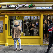 Happy Lemon plus Chinese Restaurant in London Chinatown Sweet Tooth Cafe and Restaurant at Newport Court and Garret Street on 15 June 2019, UK.