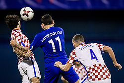 Kostas Mitroglou of Greece during the football match between National teams of Croatia and Greece in First leg of Playoff Round of European Qualifiers for the FIFA World Cup Russia 2018, on November 9, 2017 in Stadion Maksimir, Zagreb, Croatia. Photo by Ziga Zupan / Sportida