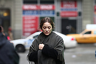 "Marion Cotillard and Joaquin Phoenix on the set of the James Gray directed movie ""Lowlife"". New York City February 09th 2012 Non Exclusive. Photo Sales Contact: Eric Ford/ On Location News 1/818-613-3955 info@onlocationnews.com"