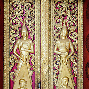 Intricate deocrations at Wat Phonxay Sanasongkham in Luang Prabang, Laos.