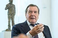 11 DEC 2019, HANNOVER/GERMANY:<br /> Gerhard Schroeder, SPD, Bundeskanzler a.D., waehrend einem Interview, im Buero seiner Anwaltskanzlei<br /> IMAGE: 20191211-01-004<br /> KEYWORDS: Gerhard Schröder, Büro