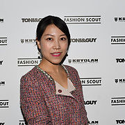Zoe Zhu attend Fashion Scout - SS19 - London Fashion Week - Day 2, London, UK. 15 September 2018.