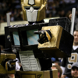 December 4, 2011; New Orleans, LA, USA; A New Orleans Saints fan in the stands during a game against the Detroit Lions at the Mercedes-Benz Superdome. The Saints defeated the Lions 31-17. Mandatory Credit: Derick E. Hingle-US PRESSWIRE