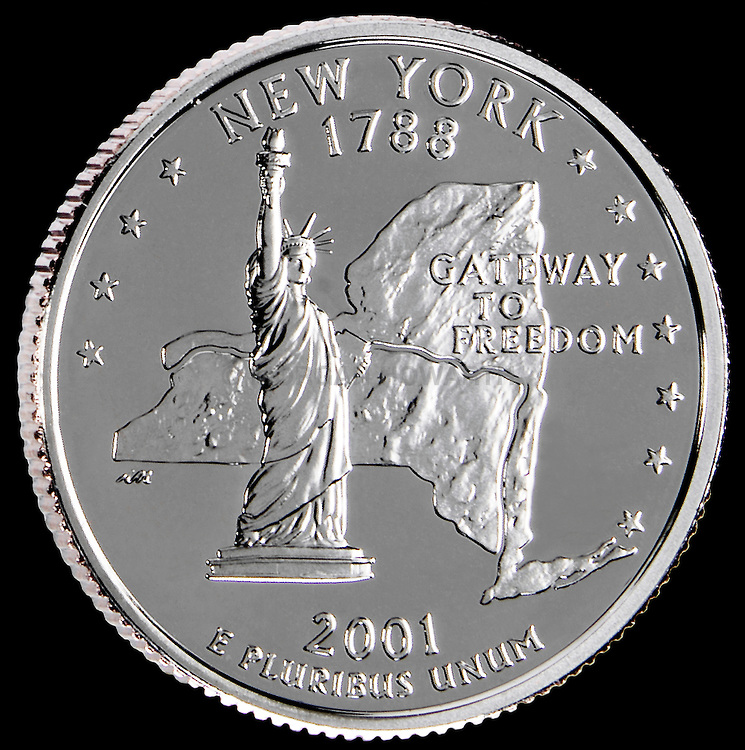 United States Coin New York Quarter