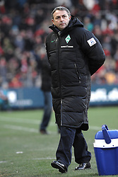 05.02.2012, MAGE SOLAR Stadion, Freiburg, GER, 1. FBL, SC Freiburg vs SV Werder Bremen, 20. Spieltag, im Bild Klaus ALLOFS (SV Werder Bremen) Freisteller // during the German Bundesliga Match between SC Freiburg and SV Werder Bremen at the MAGE SOLAR Stadium in Freiburg, Germany, 2012/02/05. EXPA Pictures © 2012, PhotoCredit: EXPA/ Eibner/ Sven Lägler..***** ATTENTION - OUT OF GER *****