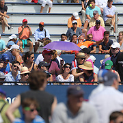 Tennis fans watching the action on the outside courts during the Women's Singles competition at the US Open. Flushing. New York, USA. 27th August 2013. Photo Tim Clayton