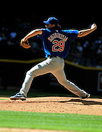 May 1 2011; Phoenix, AZ, USA; Chicago Cubs pitcher Jeff Samardzija (29) delivers a pitcher during the sixth inning against the Arizona Diamondbacks at Chase Field. The Diamondbacks defeated the Cubs 4-3. Mandatory Credit: Jennifer Stewart-US PRESSWIRE..