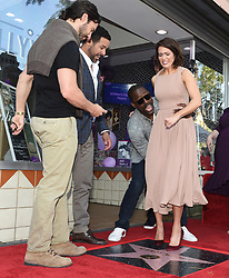 Milo Ventimiglia, Sterling K. Brown, Jon Huertas, Justin Hartley, Chrissy Metz, and Susan Kelechi attends the ceremony honoring Mandy Moore with a Star on the Hollywood Walk of Fame on March 25, 2019 in Los Angeles, CA, USA. Photo by Lionel Hahn/ABACAPRESS.COM