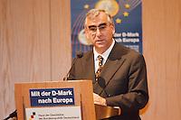 """19.06.1998, Germany/Bonn:<br /> Theo Waigel, CSU, Bundesfinanzminister, Feierstunde """"50. Geburtstag der D-Mark"""", Haus der Geschichte<br /> IMAGE: 19980619-01/01-34"""