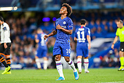 Chelsea midfielder Willan (10) reacts to a near miss during the Champions League match between Chelsea and Valencia CF at Stamford Bridge, London, England on 17 September 2019.