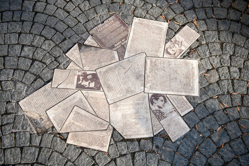 The memorial in Munich to the members of the White Rose resistance group, Hans and Sophie Scholl