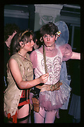 Sophie W. Wilson and Christopher Foden at Piers Gaveston Ball. Oxford Town Hall. 1981 approx.© Copyright Photograph by Dafydd Jones 66 Stockwell Park Rd. London SW9 0DA Tel 020 7733 0108 www.dafjones.com