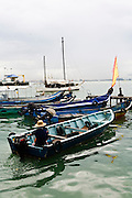 Small boat in the harbor.