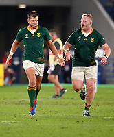 Rugby Union - 2019 Rugby World Cup - Semi-Final: Wales vs. South Africa<br /> <br /> Handre Pollard of South Africa celebrates his conversion at International Stadium Yokohama, Kanagawa Prefecture, Yokohama City.<br /> <br /> COLORSPORT/LYNNE CAMERON