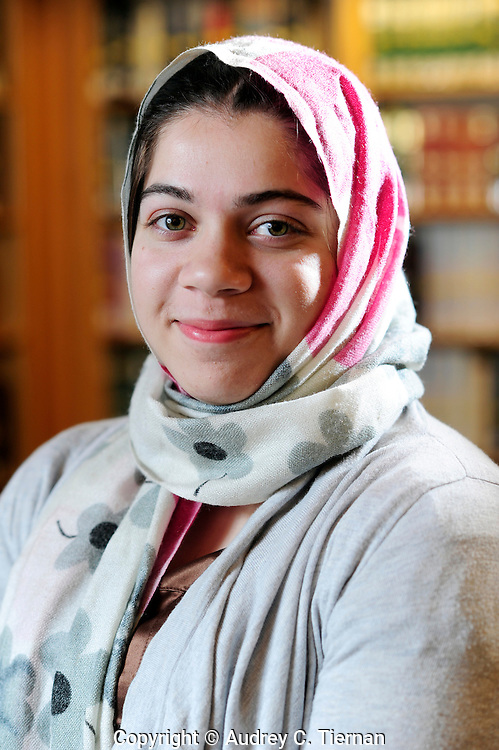 Staten Island, NY:  Saturday, February 26, 2012-- Zujaja Tauqeer, 21, of Staten Island, a senior at Macaulay Honors College at Brooklyn College, is the only scholar from a New York college chosen for the Rhodes Scholarship in 2011.    © Audrey C. Tiernan