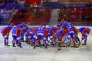 Team LHC during the French Championship Ligue Magnus, Playoffs match 3, Ice Hockey match between Lyon and Amiens on february 27, 2018 at Patinoire Charlemagne in Lyon, France - Photo Romain Biard / Isports / ProSportsImages / DPPI
