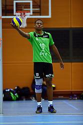 22-10-2014 NED: Selectie SSS seizoen 2014-2015, Barneveld<br /> Topvolleybal SSS Barneveld klaar voor het nieuwe seizoen 2014-2015/ Shariff Gabriel
