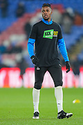 Crystal Palace forward Wilfried Zaha (11) warms up prior to the Premier League match between Crystal Palace and Southampton at Selhurst Park, London, England on 21 January 2020.