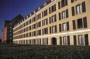 Havnegade. Restored buildings by the port. Copenhagen, Denmark.
