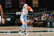 January 20, 2019: Taylor Koenen #1 of North Carolina in action during the NCAA basketball game between the Miami Hurricanes and the North Carolina Tar Heels in Coral Gables, Florida. The 'Canes defeated the Tar Heels 76-68.
