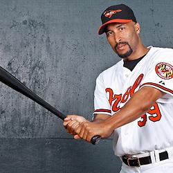 February 26, 2011; Sarasota, FL, USA; Baltimore Orioles outfielder Randy Winn (39) poses during photo day at Ed Smith Stadium.  Mandatory Credit: Derick E. Hingle