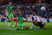 Forest Green Rovers Junior Mondal(25) in action  during the EFL Sky Bet League 2 match between Port Vale and Forest Green Rovers at Vale Park, Burslem, England on 20 August 2019.