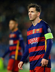 Lionel Messi of Barcelona  - Mandatory byline: Matt McNulty/JMP - 16/03/2016 - FOOTBALL - Nou Camp - Barcelona,  - FC Barcelona v Arsenal - Champions League - Round of 16
