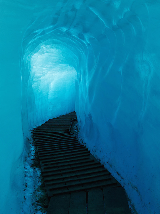 Switzerland - Walkway inside of Rhone glacier