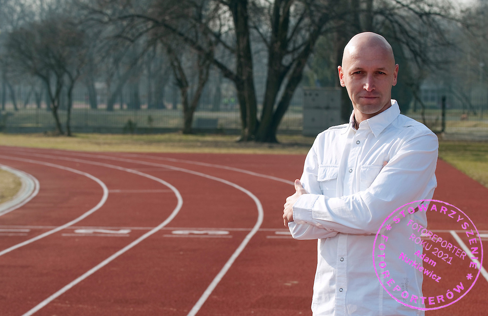 Pawel Januszewski poses on the track at Agrykola Stadium in Warsaw, Poland.<br /> <br /> Poland, Warsaw, March 31, 2011.<br /> <br /> Picture also available in RAW (NEF) or TIFF format on special request.<br /> <br /> For editorial use only. Any commercial or promotional use requires permission.<br /> <br /> Mandatory credit:<br /> Photo by &copy; Adam Nurkiewicz / Mediasport