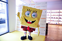 SpongeBob SquarePants arriving at a party to launch a range of SpongeBob SquarePants suits and accessories designed by Richard James in partnership with Nickelodeon held at Richard James, 29 Savile Row, London W1 on 11th May 2011.