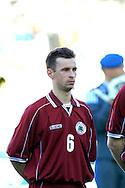 22.05.2002, Olympic Stadium, Helsinki, Finland..Friendly International match, Finland v Latvia..Viktors Lukasevics (Latvia).©Juha Tamminen