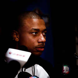 Feb 17, 2017; New Orleans, LA, USA; Eastern Conference All Star Isaiah Thomas during the All Star media availability at the Ritz Carlton. Mandatory Credit: Derick E. Hingle-USA TODAY Sports