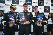 October 3-5, 2013. Lamborghini Super Trofeo - Virginia International Raceway. Kevin Conway, Justin Bell, Al Carter.