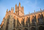 The Abbey late evening sun, Bath