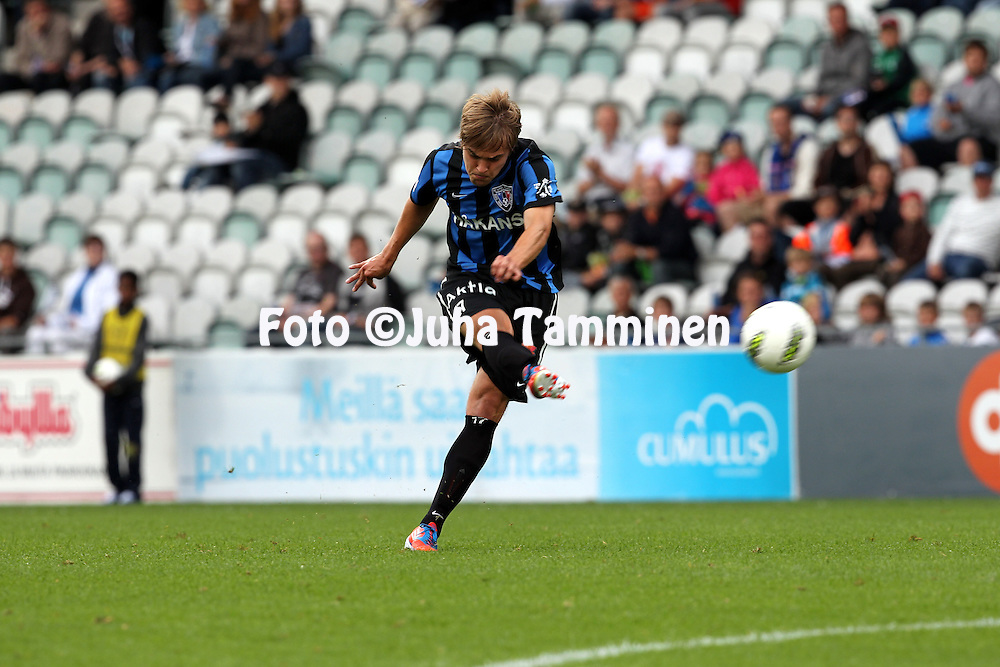 15.7.2012, Veritas stadion (Kupittaa), Turku..Veikkausliiga 2012..FC Inter Turku - JJK Jyv?skyl?..Mika Ojala - Inter.
